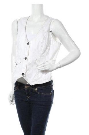 Дамски елек Biaggini, Размер XL, Цвят Бял, 76% памук, 23% полиестер, 1% еластан, Цена 10,57лв.