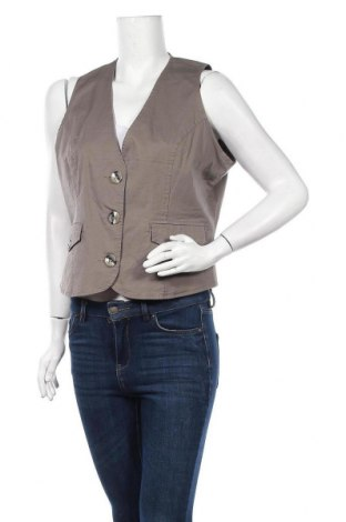Дамски елек C.A.R.O, Размер L, Цвят Кафяв, 95% памук, 5% еластан, Цена 5,60лв.