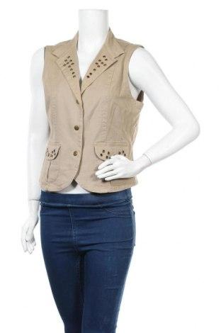 Дамски елек Casa Blanca, Размер L, Цвят Бежов, 97% памук, 3% еластан, Цена 3,00лв.