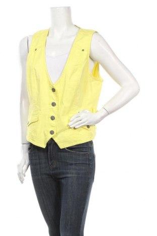 Дамски елек Cecil, Размер XL, Цвят Жълт, 98% памук, 2% еластан, Цена 10,40лв.