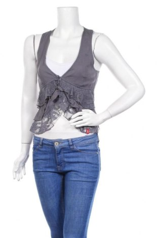 Дамски елек Edc By Esprit, Размер S, Цвят Сив, Вискоза, памук, еластан, Цена 10,40лв.