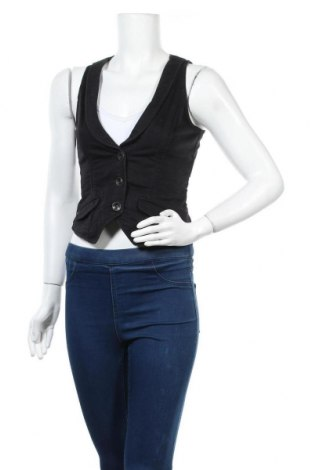 Дамски елек Esprit, Размер XS, Цвят Черен, 99% памук, 1% еластан, Цена 5,51лв.