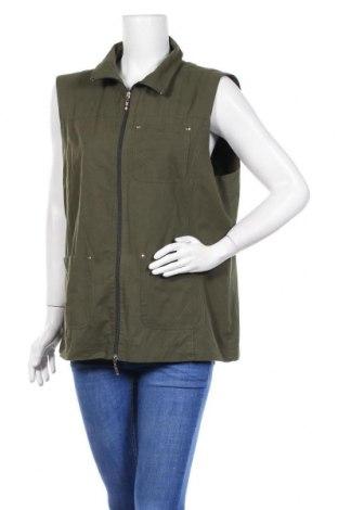 Дамски елек Gina Laura, Размер XL, Цвят Зелен, 65% полиестер, 35% памук, Цена 15,96лв.