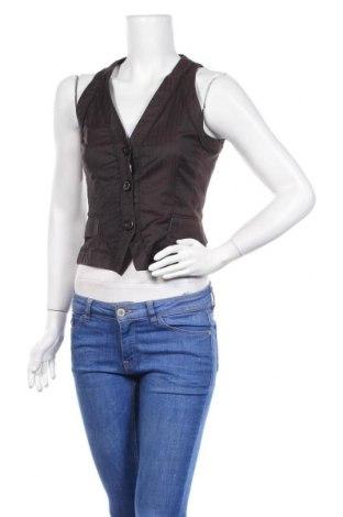 Дамски елек H&M, Размер S, Цвят Кафяв, 42% памук, 58% полиамид, Цена 4,64лв.