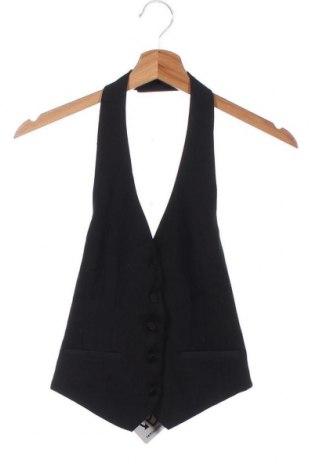 Дамски елек H&M B'B, Размер XS, Цвят Черен, 64% полиестер, 33% вискоза, 3% еластан, Цена 5,51лв.