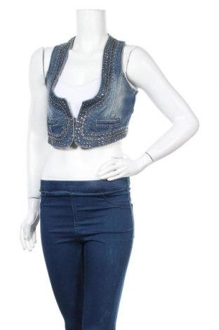 Дамски елек Madonna, Размер L, Цвят Син, 98% памук, 2% еластан, Цена 5,78лв.
