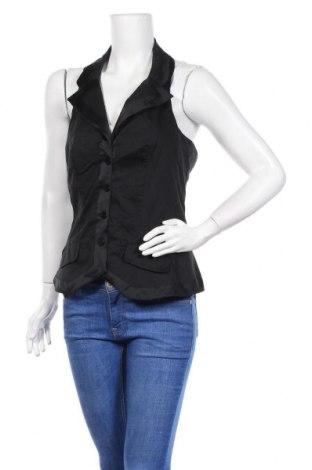 Дамски елек Promod, Размер L, Цвят Черен, 98% памук, 2% еластан, Цена 13,44лв.
