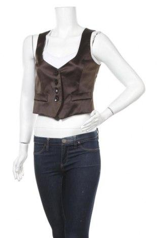 Дамски елек Zara, Размер S, Цвят Кафяв, 100% ацетат, Цена 7,49лв.