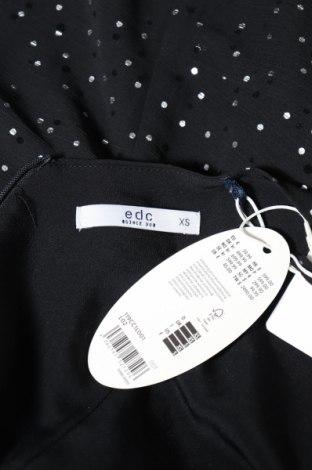 Дамски гащеризон Edc By Esprit, Размер XS, Цвят Черен, Полиестер, Цена 17,80лв.