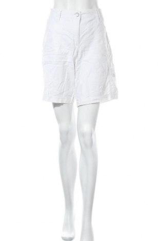 Γυναικείο κοντό παντελόνι Brandtex, Μέγεθος L, Χρώμα Λευκό, 55% λινό, 45% βαμβάκι, Τιμή 9,29€