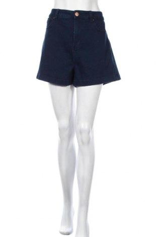 Γυναικείο κοντό παντελόνι Forever 21, Μέγεθος XXL, Χρώμα Μπλέ, 74% βαμβάκι, 24% πολυεστέρας, 2% ελαστάνη, Τιμή 10,13€