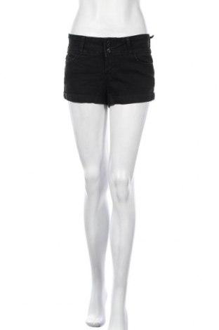 Γυναικείο κοντό παντελόνι Guess, Μέγεθος L, Χρώμα Μαύρο, 74% βαμβάκι, 24% πολυεστέρας, 2% ελαστάνη, Τιμή 13,57€