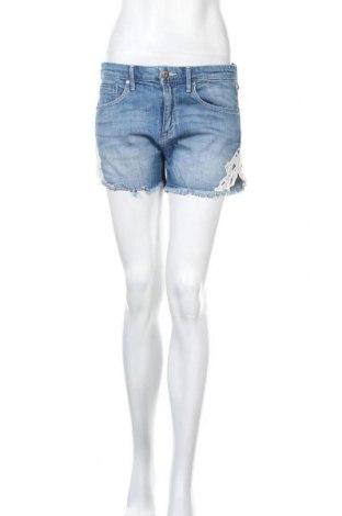 Γυναικείο κοντό παντελόνι H&M, Μέγεθος M, Χρώμα Μπλέ, 99% βαμβάκι, 1% ελαστάνη, Τιμή 12,34€