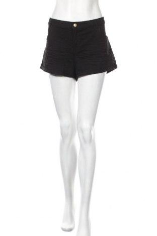 Γυναικείο κοντό παντελόνι H&M, Μέγεθος XL, Χρώμα Μαύρο, 98% βαμβάκι, 2% ελαστάνη, Τιμή 6,07€