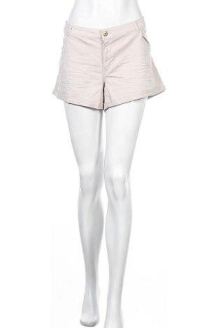 Γυναικείο κοντό παντελόνι H&M, Μέγεθος XL, Χρώμα  Μπέζ, 98% βαμβάκι, 2% ελαστάνη, Τιμή 4,09€