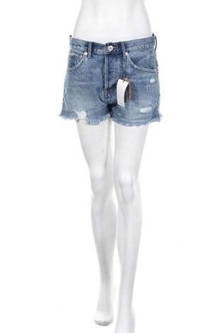Γυναικείο κοντό παντελόνι Mango, Μέγεθος M, Χρώμα Μπλέ, Βαμβάκι, Τιμή 18,09€