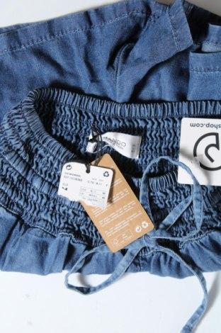 Γυναικείο κοντό παντελόνι Mango, Μέγεθος M, Χρώμα Μπλέ, Lyocell, Τιμή 12,57€
