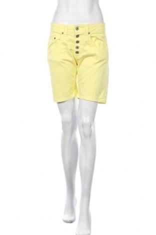 Γυναικείο κοντό παντελόνι Please, Μέγεθος S, Χρώμα Κίτρινο, 98% βαμβάκι, 2% ελαστάνη, Τιμή 22,94€