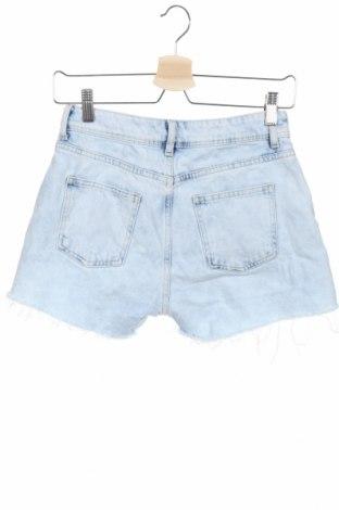 Γυναικείο κοντό παντελόνι Zara, Μέγεθος XS, Χρώμα Μπλέ, Βαμβάκι, Τιμή 9,54€