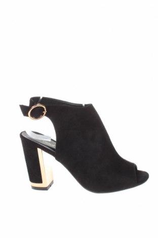 Γυναικεία παπούτσια Boohoo, Μέγεθος 40, Χρώμα Μαύρο, Κλωστοϋφαντουργικά προϊόντα, Τιμή 18,25€