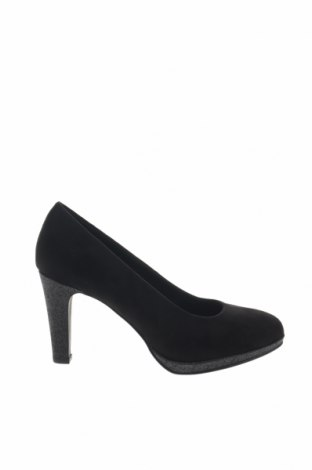 Γυναικεία παπούτσια Marco Tozzi, Μέγεθος 39, Χρώμα Μαύρο, Κλωστοϋφαντουργικά προϊόντα, Τιμή 17,64€