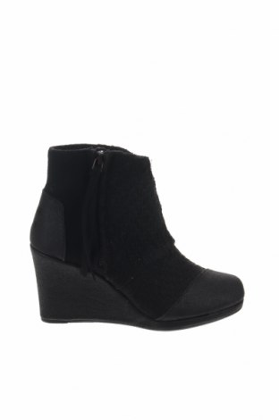 Γυναικεία μποτάκια Toms, Μέγεθος 35, Χρώμα Μαύρο, Κλωστοϋφαντουργικά προϊόντα, Τιμή 21,52€