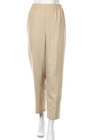 Дамски панталон Alfred Dunner, Размер L, Цвят Бежов, Полиестер, Цена 10,24лв.