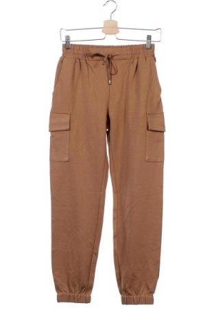 Дамски панталон Amisu, Размер XS, Цвят Кафяв, 65% вискоза, 31% полиамид, 4% еластан, Цена 41,58лв.