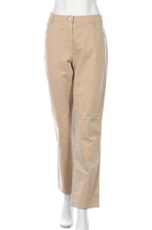 Дамски панталон Brax, Размер L, Цвят Бежов, 73% памук, 22% модал, 5% еластан, Цена 26,07лв.