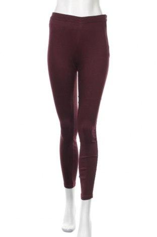 Дамски панталон H&M L.O.G.G., Размер XS, Цвят Червен, 66% памук, 31% полиестер, 3% еластан, Цена 9,66лв.