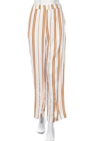 Дамски панталон H&M L.O.G.G., Размер L, Цвят Бял, Вискоза, Цена 6,56лв.