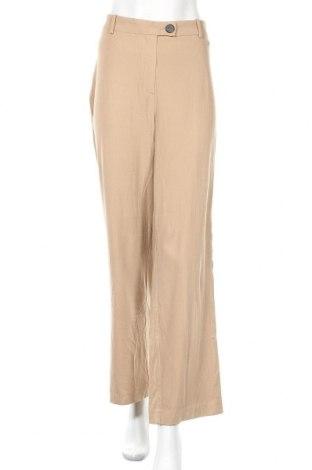 Γυναικείο παντελόνι Hallhuber, Μέγεθος L, Χρώμα  Μπέζ, 92% βισκόζη, 8% ελαστάνη, Τιμή 30,73€