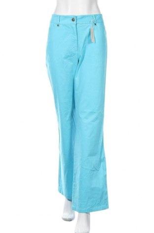 Дамски панталон Jones New York, Размер M, Цвят Син, 98% памук, 2% еластан, Цена 11,21лв.