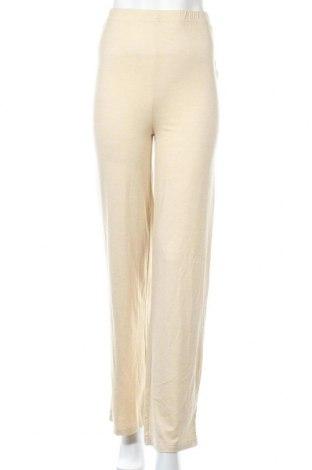 Дамски панталон Missguided, Размер S, Цвят Екрю, 75% полиестер, 20% вискоза, 5% еластан, Цена 39,00лв.