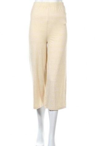 Дамски панталон Missguided, Размер S, Цвят Екрю, 75% полиестер, 20% вискоза, 5% еластан, Цена 10,40лв.