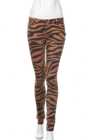Дамски панталон ONLY, Размер M, Цвят Кафяв, 98% памук, 2% еластан, Цена 13,80лв.