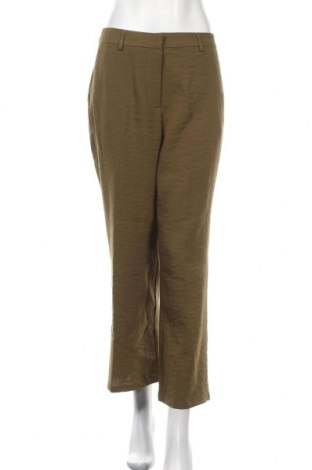 Дамски панталон Vila, Размер M, Цвят Зелен, 54% полиестер, 46% вискоза, Цена 51,75лв.