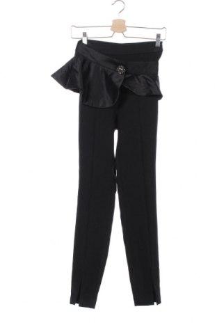 Pantaloni de femei Zara, Mărime XS, Culoare Negru, 69% poliester, 26% viscoză, 5% elastan, Preț 46,91 Lei