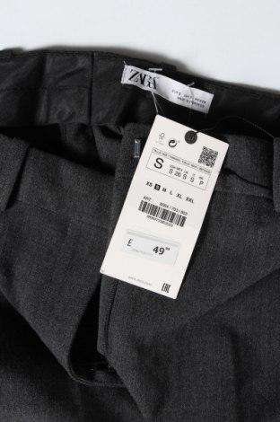 Дамски панталон Zara, Размер S, Цвят Сив, 68% полиестер, 29% вискоза, 3% еластан, Цена 51,75лв.