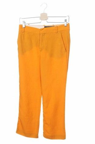 Дамски панталон Zara, Размер XS, Цвят Жълт, Цена 8,22лв.