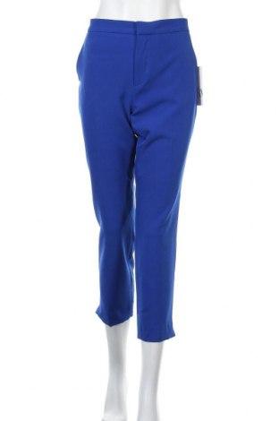 Дамски панталон Zara, Размер L, Цвят Син, 88% полиестер, 12% еластан, Цена 58,85лв.