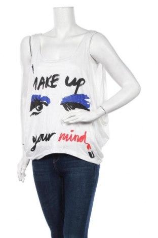 Γυναικείο αμάνικο μπλουζάκι H&M Divided, Μέγεθος M, Χρώμα Λευκό, Βισκόζη, Τιμή 4,91€