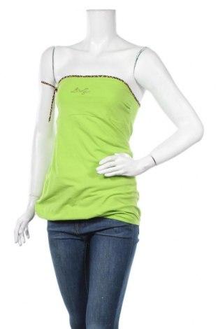 Γυναικείο αμάνικο μπλουζάκι Liu Jo, Μέγεθος L, Χρώμα Πράσινο, 95% βαμβάκι, 5% ελαστάνη, Τιμή 11,43€