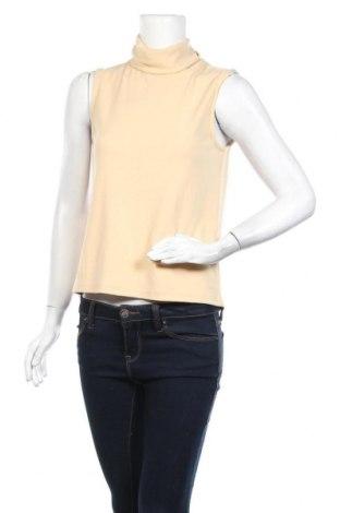 Γυναικείο αμάνικο μπλουζάκι Pieces, Μέγεθος M, Χρώμα  Μπέζ, 57% βισκόζη, 38% πολυαμίδη, 5% ελαστάνη, Τιμή 4,76€