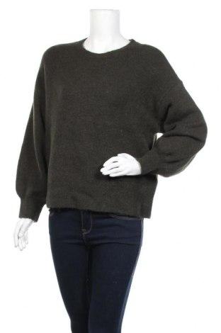 Γυναικείο πουλόβερ Object, Μέγεθος M, Χρώμα Πράσινο, 52% πολυεστέρας, 21%ακρυλικό, 12% πολυαμίδη, 6% μαλλί, 6% μαλλί από αλπακά, 3% ελαστάνη, Τιμή 26,68€