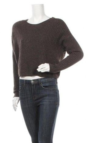 Γυναικείο πουλόβερ Pieces, Μέγεθος M, Χρώμα Γκρί, 100% πολυεστέρας, Τιμή 22,81€