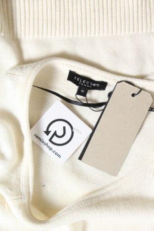 Γυναικείο πουλόβερ Selected Femme, Μέγεθος M, Χρώμα Εκρού, 60% βαμβάκι, 40%ακρυλικό, Τιμή 10,67€