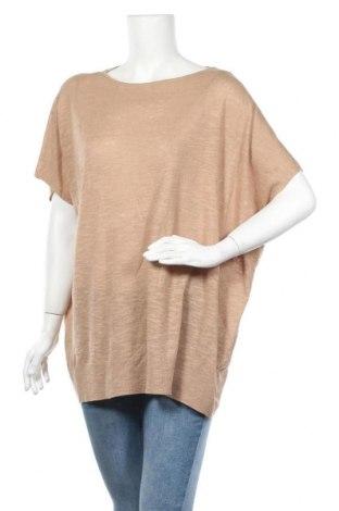 Γυναικείο πουλόβερ Vero Moda, Μέγεθος S, Χρώμα  Μπέζ, 50% βαμβάκι, 50% λινό, Τιμή 14,74€