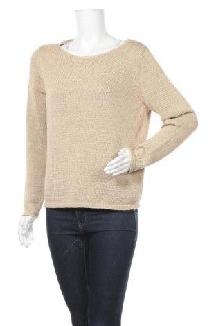 Γυναικείο πουλόβερ Vila, Μέγεθος M, Χρώμα  Μπέζ, 70% βαμβάκι, 30% πολυεστέρας, Τιμή 22,81€