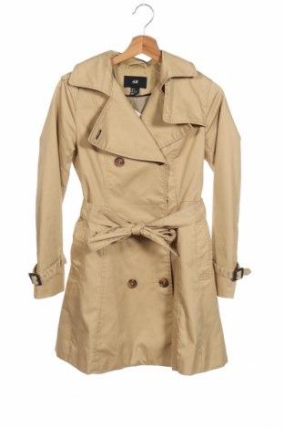 Дамски шлифер H&M, Размер XS, Цвят Бежов, 65% полиестер, 35% памук, Цена 33,86лв.